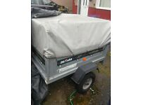 Daxara 127 Trailer with hitch lock and cover