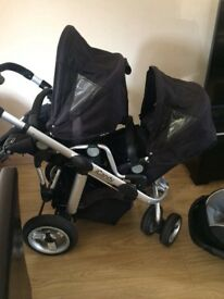 Icandy apple pear double,single pushchair