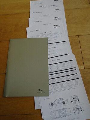 Jaguar Press release brochure 2003 Model Year 3 colour photos