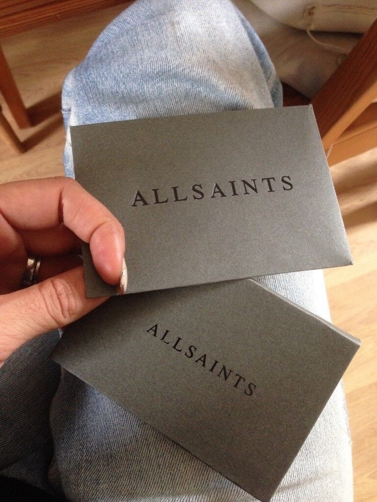 500 all saints store card gift card £450 meet in store | in ...