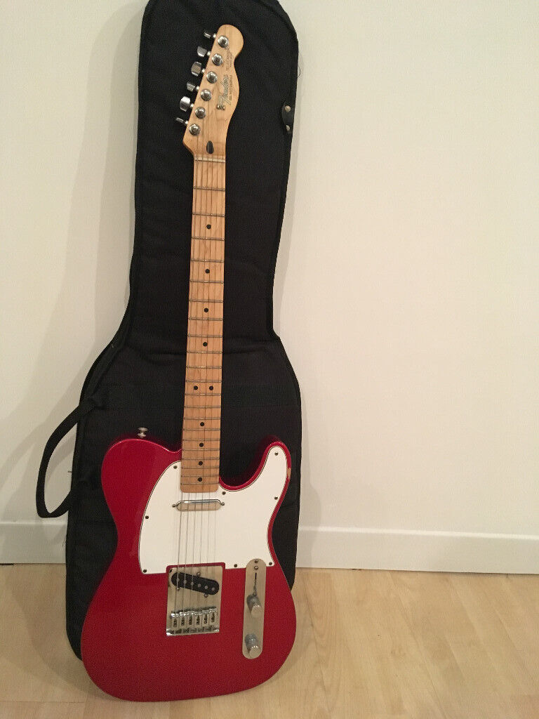 b2c5c8c0f02 Fender Telecaster MIM Mexican Electric Guitar Candy Apple Red with Soft Case