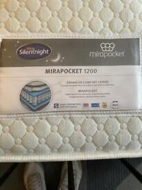 Mirapocket 1200 double mattress - £480 new