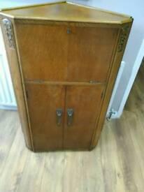 Vintage Retro Oak Corner Cabinet/Beuraeu Can Deliver