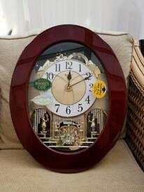 Rhythm wooden case clock