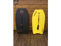 2 x Body Boards and Carry Bag