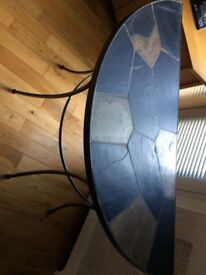 Consol Table, Iron legs & surround