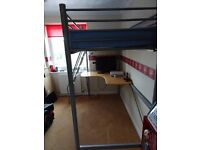 Hyder quality bunk bed with desk below