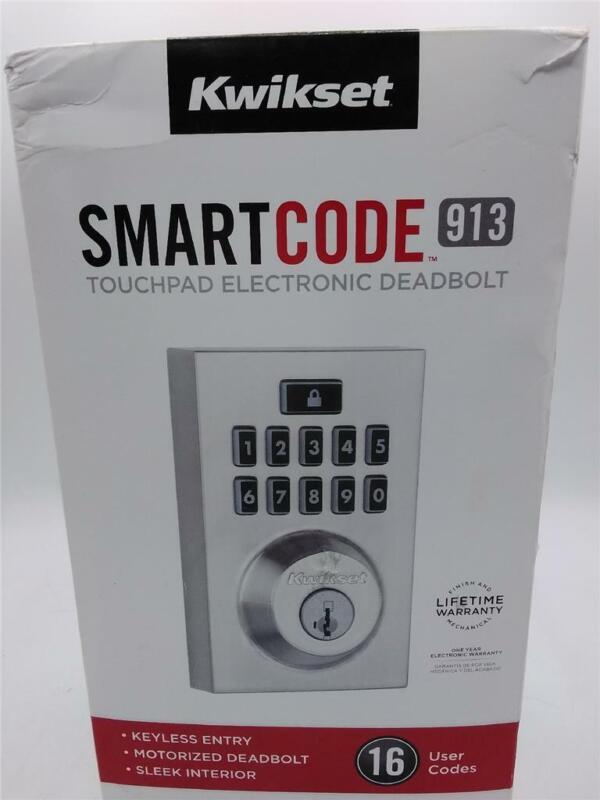 Kwikset SmartCode 913 Touchpad Electronic DeadBolt