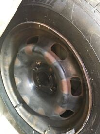 Spare wheel suitable for Peugeot