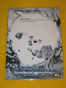 Radiohead - A Moon Shaped Pool -  DOUBLE SIDED Laminated Promo Poster.