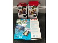 Canon compact printer bundle, cartridges and sheets