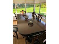 Mahogany dining table & 8 chairs