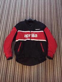 Aprilia motorcycle padded Jacket, Black and Red