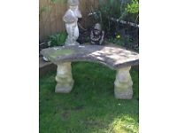 Half moon bench with squirrel ends