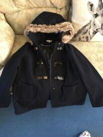 Blue red herring maternity duffle coat