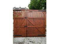 Heavy duty 7ft high double gates