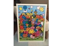 FREE Mr. Men and Little Miss Poster in IKEA Frame
