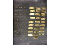 32 Brass Sash Window Slotted Hinges with screws £2.50 each or all £75 (just 32 left)