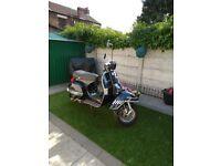 Vespa125 for sale,12 months MOT lovely scooter unmolested