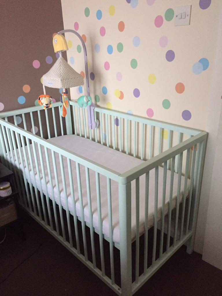 Mothercare Balham Cot Mint Green Never Used