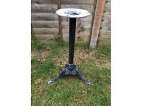 Metal garden table pedestal base