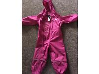 Girls 12-18 month peter storm puddle suit