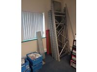 Steel pallet racking(sheving) excellent condition