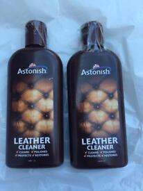 Astonish leather cleaner bottles