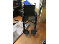 Wheelchair - excellent condition. Hardly used wheelchair, basically brand new.