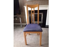 Ikea Dining Chairs set of 4. Probably need reupholstering