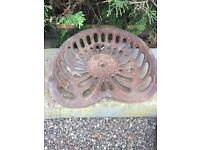 Bamford vintage cast iron tractor / implement seat