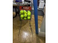 Tennis feeder rack and ball collector