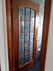 Oak glass doors x4 good clean condition.