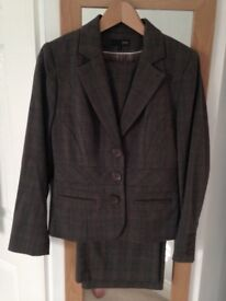 Next Womens Flattering Dark Navy Elegant Dress Suit Jacket Dress