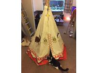 Children's toy canvas teepee