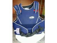Childs body protector for horse riding