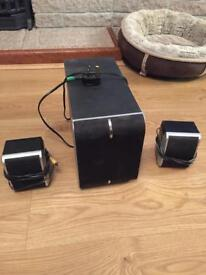 Sub and two speakers