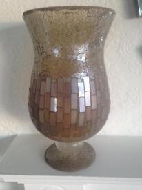 Beautiful large mosaic glass goblet