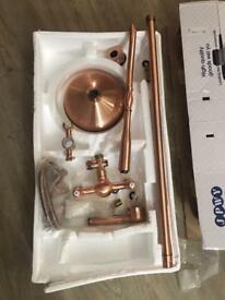 Copper shower mixer