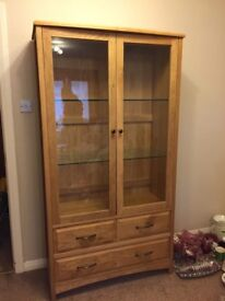 Oak Display Unit, in perfect condition.