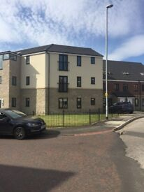 New build 2 bedroom flat, private parking, kitchen/diner, outside storage - reduced for quick sale