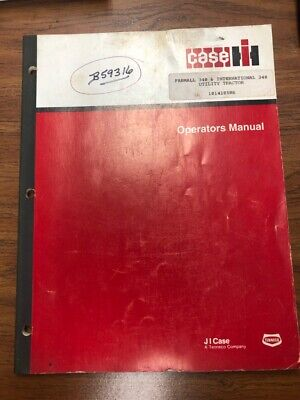 Case Ih Farmall 340 Internaltional 340 Utility Tractor Operators Manual