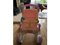 Baby walker pushchair