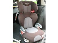 GRACO BOOSTER CAR SEAT/CHAIR In very good clean condition, It has a removable/adjustable back rest
