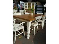 Pine painted farmhouse table