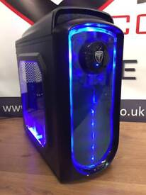 Brand New Gaming Desktop PC QUAD Core 8GB RAM 128GB Solid State Drive Windows 10 Pro Free Delivery