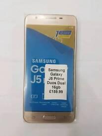 Brand New Samsung Galaxy J5 Prime Duos(Dual Sim) 16gb Black Gold And White Colour Unlocked