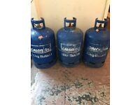 3 Empty/Used Calor Gas Butane 15kg