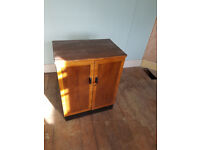 Vintage wooden record storage cabinet 825mm high x 525mm width x410mm depth