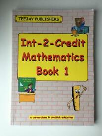 TeeJay Publishers Int-2-Credit Mathematics Book 1